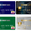Stock Vector: Credit card set