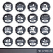 File extensions icons set — Stock Vector
