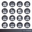 File extensions icons set — Stock Vector #3407358
