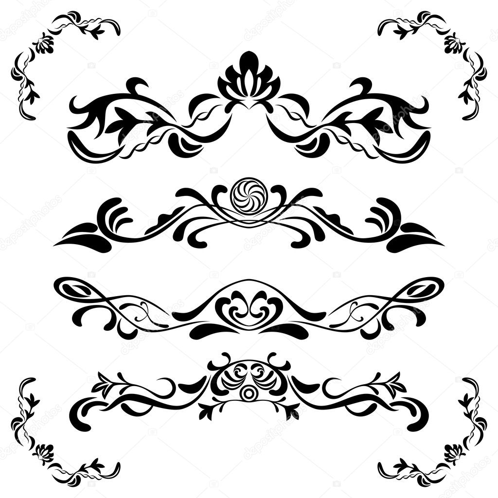 Floral ornaments set  — Stock Vector #3400056