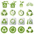 Recycle icons set - Imagen vectorial