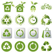 Recycle icons set — Stockvector