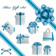 Blue gift set — Stock Vector