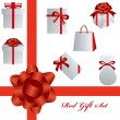 Red gift set — Stock Vector