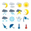 Weather icons set — Stock Vector #3449719