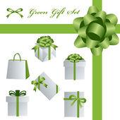 Green gift set — Stock Vector