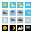 Weather icons set — Stock Vector #3501044