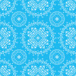 Abstract seamless floral blue background — Vettoriali Stock