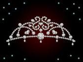 This graphic is diamond tiara. Illustration vector. — Stock Vector