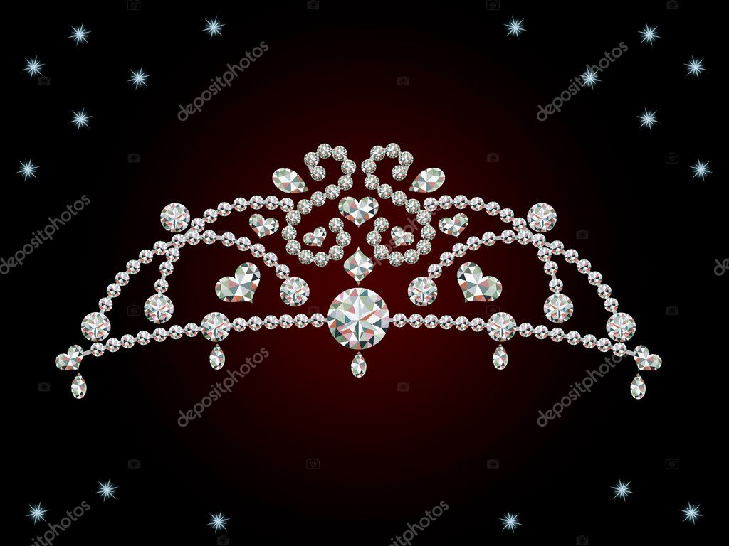 This graphic is diamond tiara. Illustration vector.  — Stock Vector #3524291
