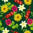 Seamless flower pattern — Stock Vector