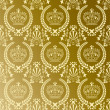 Abstract gold crown pattern — Stockvektor