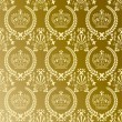 Royalty-Free Stock Vector Image: Abstract gold crown pattern