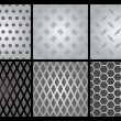 Royalty-Free Stock Imagem Vetorial: Metal texture 6 set