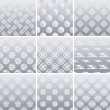 Japanese traditional silver pattern — Stock Vector