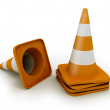 Royalty-Free Stock Photo: Few road cones