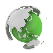 Abstract green globe, Asia — Stock Photo