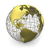 Globo de oro, estados unidos — Foto de Stock