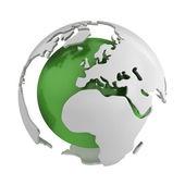 абстрактный зеленый глобус, европа — Стоковое фото