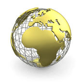 Golden globe, europa — Stockfoto