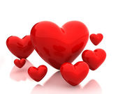 Few red hearts — Stock Photo