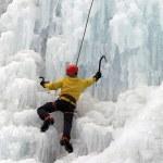 Ice climber — Stock Photo