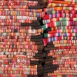 Bolivian blankets — Stock Photo