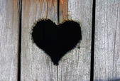 Heart in wood — Stock Photo