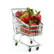 Stock Photo: Strawberries in Cart