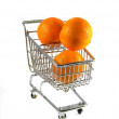Stock Photo: Clementines in Shopping Cart