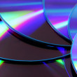 colorful dvds — Stock Photo