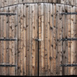 Weathered Wooden Double Door — Stok fotoğraf