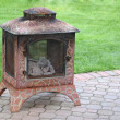 Backyard Fireplace — Stock Photo