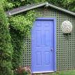 Green Garden Shed - Stock Photo