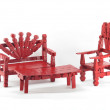 Stock Photo: Red Clothespin Furniture