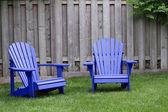 Blue Adirondack Chairs — Stock Photo