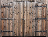 Weathered Wooden Double Door — Stock Photo