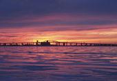 Donmuş gündoğumu Gölü — Stok fotoğraf