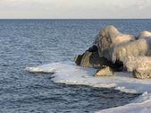 Ice Encrusted Rocks — Stock Photo