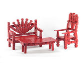 Red Clothespin Furniture — Stock Photo