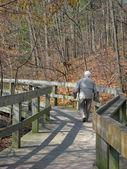 Senior caminando — Foto de Stock
