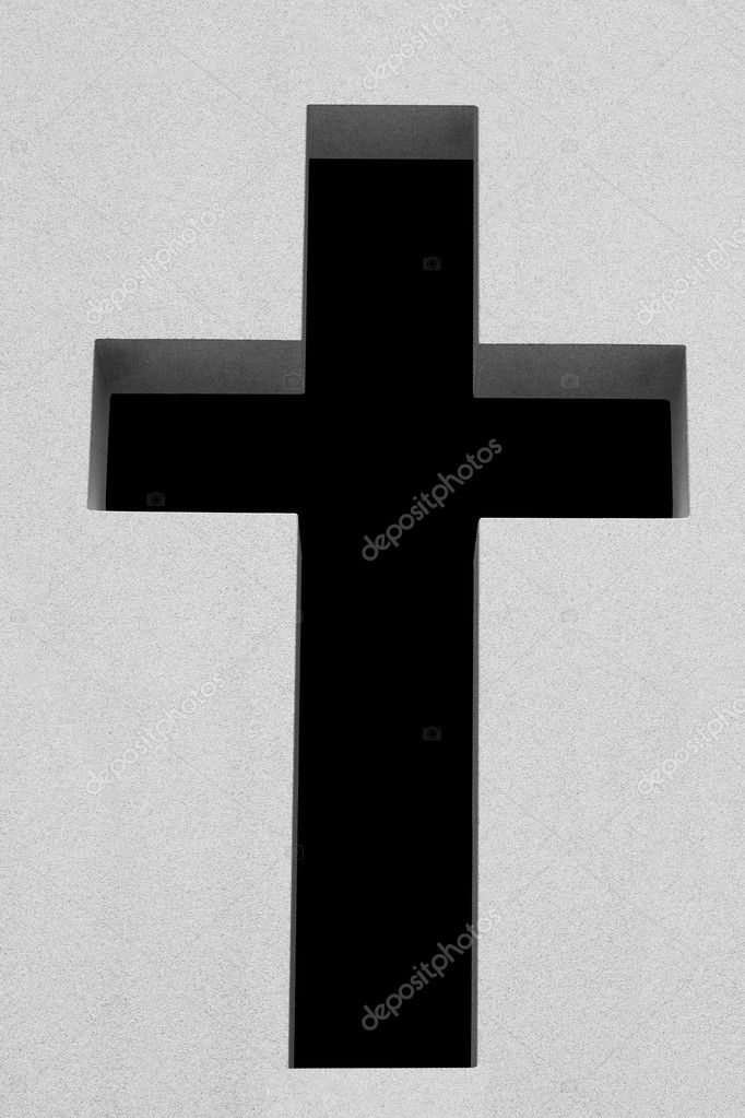Cutout cross with black background — Stock Photo #2972410