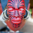 HEAD ON MAORI WAKA (CANOE) — Stock Photo