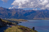 Traveling by moterhome in New Zealand — Stock Photo