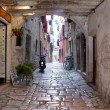 Narrow marble croatian small street — Stock Photo