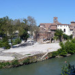 Italy. Rome. Tiber Island - Stock Photo