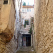 Narrow croatian small street — Stock Photo