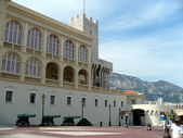 Courtyard in front of Prince`s Palace of Monaco — Stock Photo