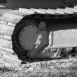 Royalty-Free Stock Photo: Bulldozer tracks in black and white