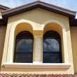 Outside arched windows - Stock Photo